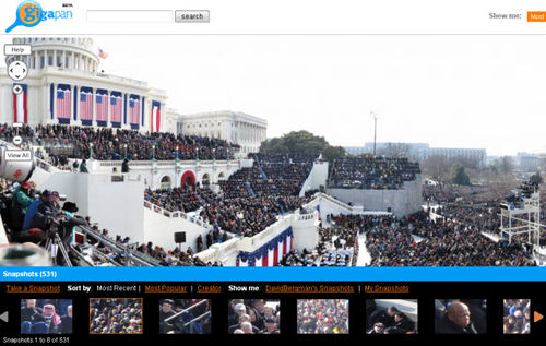 Gigapan of the inaugural address